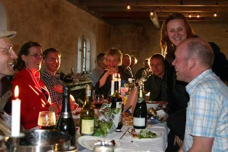 Middag i Lindbackas gamla kvarn.
